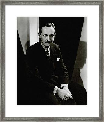 Portrait Of Actor Frederick March Framed Print