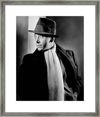 Portrait Of Actor George Raft Framed Print by Lusha Nelson