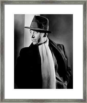 Portrait Of Actor George Raft Framed Print