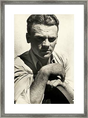 Portrait Of Actor James Cagney Framed Print by Imogen Cunningham