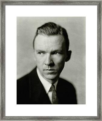 Portrait Of Actor Lee Tracy Framed Print