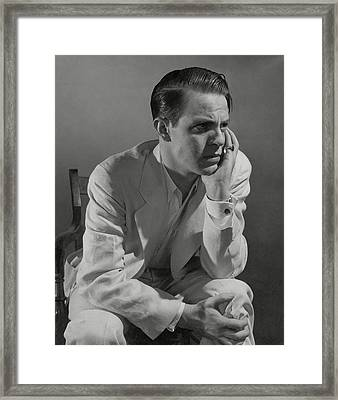Portrait Of Actor Louis Hayward Framed Print by Edward Steichen