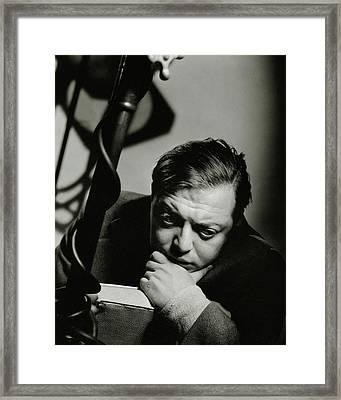 Portrait Of Actor Peter Lorre Framed Print by Anton Bruehl