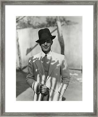 Portrait Of Actor Phillips Holmes Framed Print by George Hoyningen-Huene