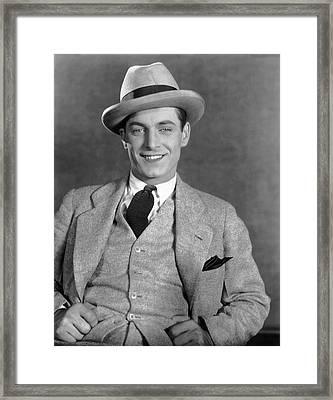 Portrait Of Actor Rex Lease Framed Print