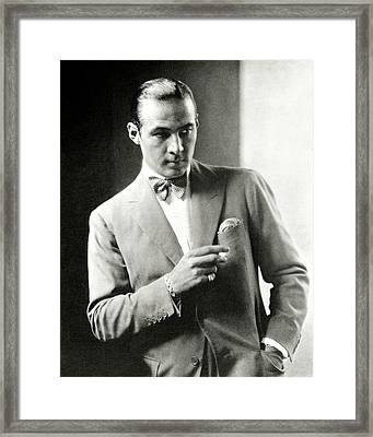 Portrait Of Actor Rudolph Valentino Framed Print