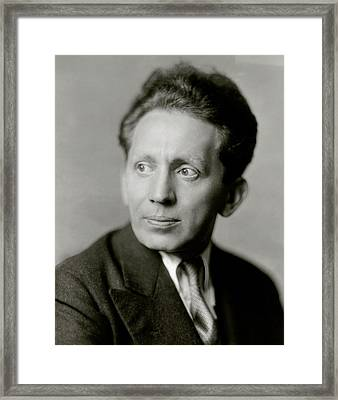 Portrait Of Actor Sam Jaffe Framed Print