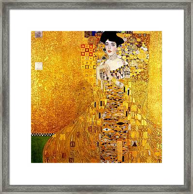 Portrait Of Adele Bloch-bauer Art Nouveau Framed Print by Masterpieces Of Art Gallery