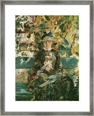 Portrait Of Adele Tapie De Celeyran Framed Print by Henri de Toulouse-Lautrec