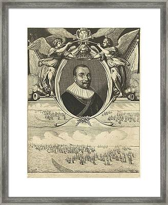 Portrait Of Admiral Maarten Tromp At The Age Of 42 Framed Print by Cornelis Van Dalen (i)