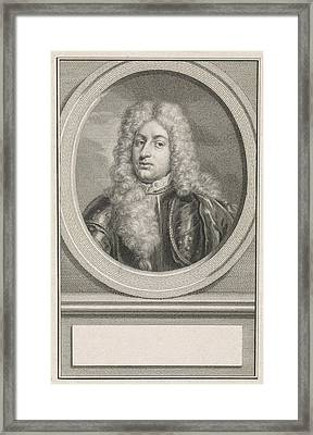 Portrait Of Adolf Hendrik Van Rechteren, Print Maker Jacob Framed Print by Jacob Houbraken And Roelof Koets Ii And Hendrik Pothoven