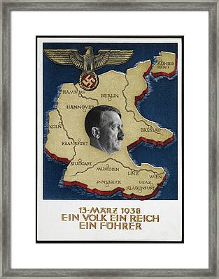 Portrait Of Adolf Hitler Framed Print