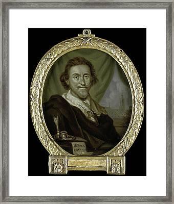 Portrait Of Adriaen Pietersz Van De Venne Framed Print