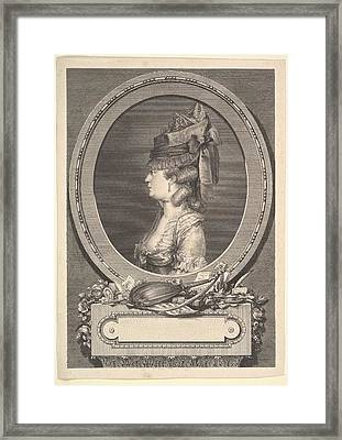 Portrait Of Adrienne-sophie Marquise De Framed Print