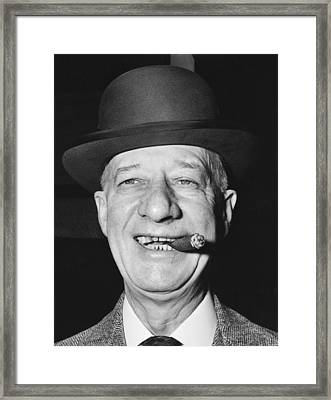 Portrait Of Al Smith Framed Print by Underwood Archives