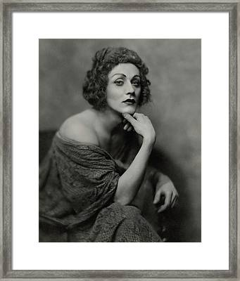 Portrait Of Albert Carroll In Costume Framed Print by Nicholas Muray