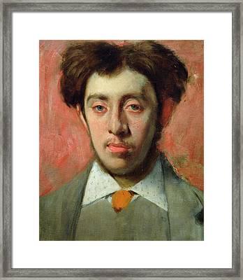 Portrait Of Albert Melida Framed Print by Edgar Degas