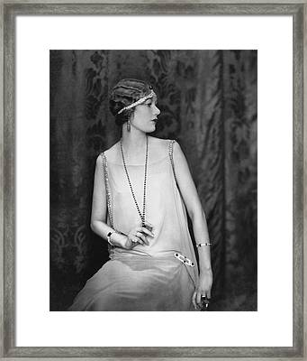 Portrait Of Alden Gay Framed Print by Edward Steichen