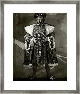 Portrait Of Alexander Woollcott Framed Print by Nickolas Muray