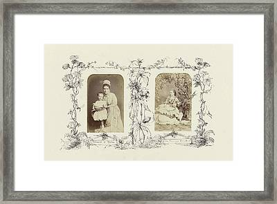 Portrait Of Alexandra, Princess Of Wales With Child Framed Print by Artokoloro