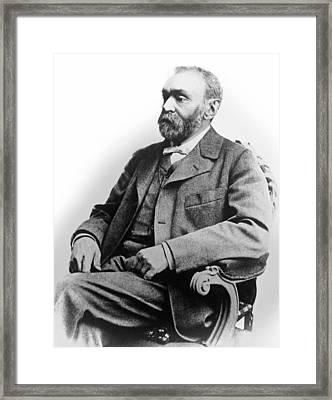 Portrait Of Alfred Nobel Framed Print by Underwood Archives