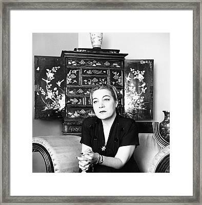 Portrait Of Amalia Gonzalez Caballero De Castillo Framed Print by Horst P. Horst