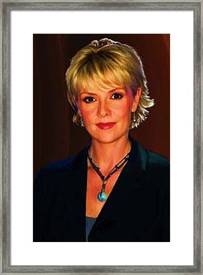 Portrait Of Amanda Tapping Framed Print
