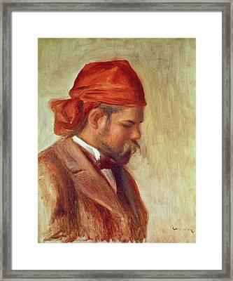 Portrait Of Ambroise Vollard 1868-1939 Oil On Panel Framed Print by Pierre Auguste Renoir