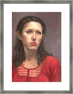 Portrait Of Amelia Framed Print by Terri  Meyer