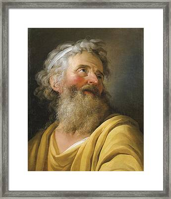 Portrait Of An Actor Framed Print