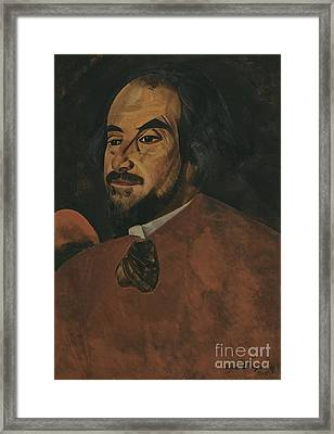 Portrait Of An Actor Said To Be Nikolai Alexandrov  Framed Print by Celestial Images