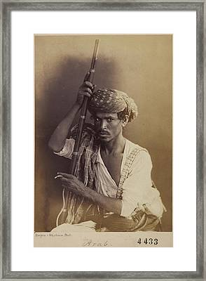 Portrait Of An Arab Man Framed Print