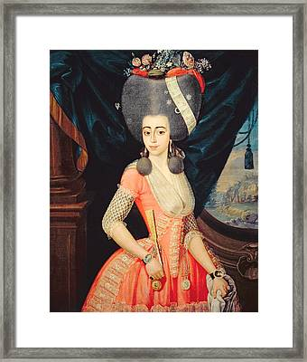 Portrait Of An Elegant Lady, C.1790 Framed Print