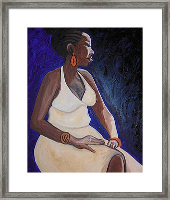 Portrait Of An Ethiopian Woman Framed Print