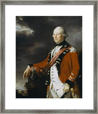 Portrait Of An Officer Of The 15th Framed Print by Tilly Kettle