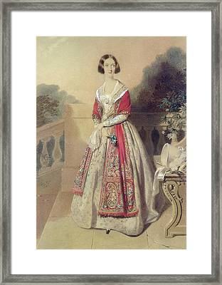 Portrait Of An Unknown Lady  Framed Print by William Buckler
