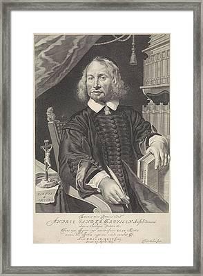 Portrait Of Andreas Van Der Kruyssen, Theodor Matham Framed Print