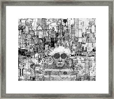 Portrait Of Andy By Andy Framed Print