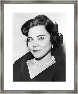 Portrait Of Ann Landers Framed Print by Fred Palumbo