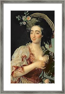 Portrait Of Anna Davia Bernucci Framed Print by Dmitri Grigorevich Levitsky