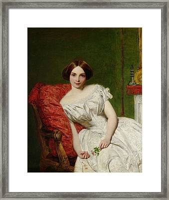 Portrait Of Annie Gambart Framed Print by William Powell Frith