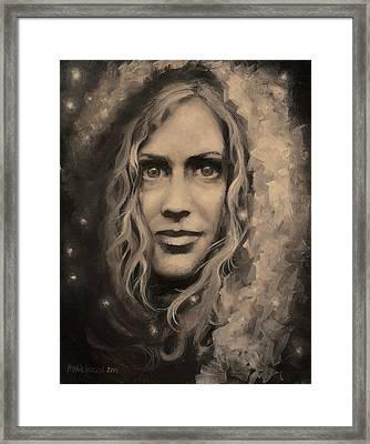 Portrait Of Annie Framed Print