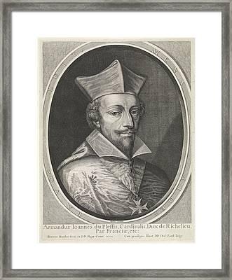 Portrait Of Armand-jean Du Plessis, Duke Of Richelieu Framed Print