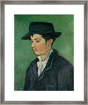 Portrait Of Armand Roulin, 1888 Oil On Canvas Framed Print by Vincent van Gogh
