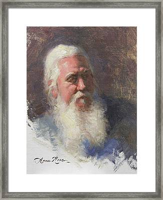Portrait Of Artist Michael Mentler Framed Print by Anna Rose Bain