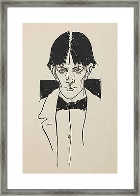 Portrait Of Aubrey Beardsley Framed Print