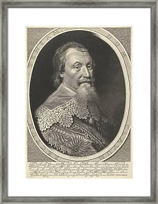 Portrait Of Axel Oxenstierna Framed Print by Willem Jacobsz. Delff