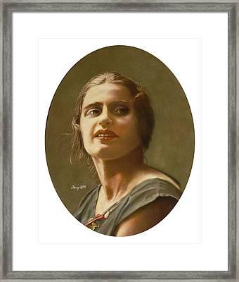 Portrait Of Ayn Rand Framed Print