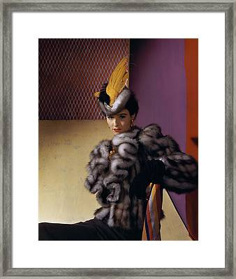 Portrait Of Babe Paley Framed Print by Horst P. Horst