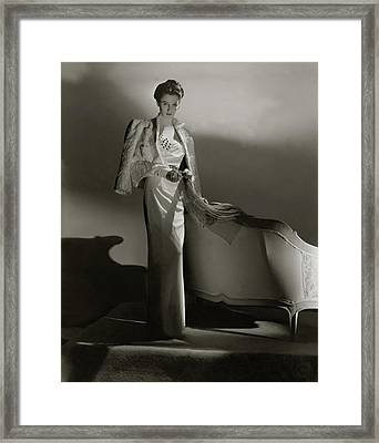 Portrait Of Barbara Cushing Framed Print